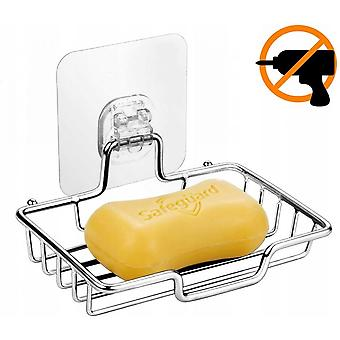 Soap Dish, Non-porous Soap Dish, Transparent Ribbon, Stainless Steel Polished Surface