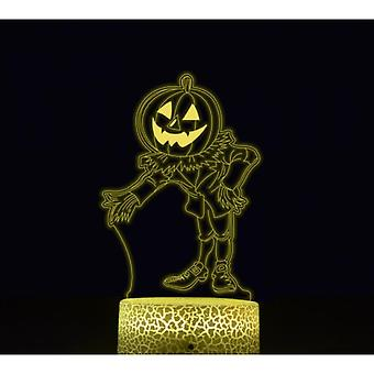 3d Touch Light Night Light Kids 7-ribbon Remote Control-halloween Party