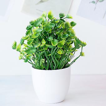 Bonsai artificial grass in a pot green fake plants potted grass plastic plants art home/garden/room/official desk decorations 1p