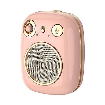 REMAX RB-M58 Retro HiFi Portable Bluetooth Speaker 360° Stereo Wireless Bluetooth 5.0 Subwoofer Pink