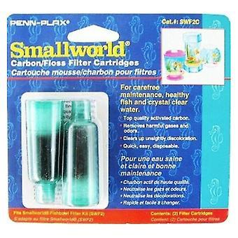 Penn Plax Smallworld Uhlíkové/Floss filtrační kazety - 2 balení