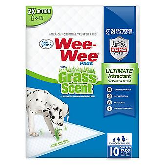 Four Paws Wee Wee Grass Scented Puppy Pads - 10 count