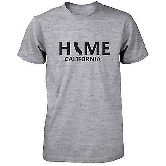 Huis CA staat grijs T-Shirt voor mannen Amerikaanse California woonplaats Tee