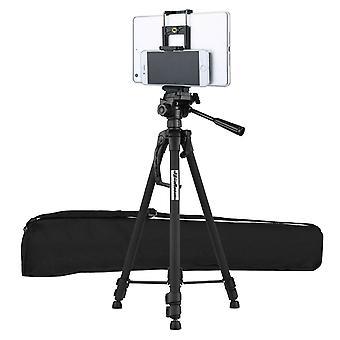 Hordozható alumínium utazó állvány állvány DSLR kamera kamera WF-3540 (fekete)