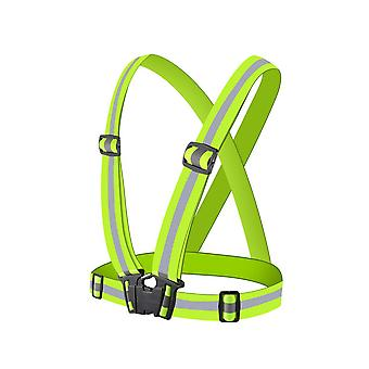 Traffic Safety Reflective Vest, Adjustable With Elastic Band, Running And Riding A Motorcycle, 5x2cm