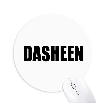 Dasheen Vegetable Name Foods Round Non-slip Rubber Mousepad Game Office Mouse Pad