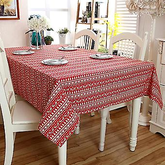 Tablecloths 60 cm linen cotton red christmas tree lace coffee dinner tablecloth wedding tablecloth red