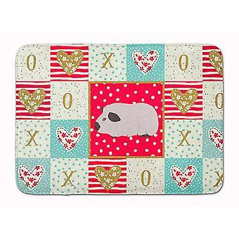 Bath mats rugs himalayan guinea pig love machine washable memory foam mat