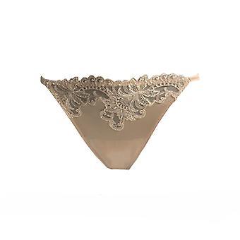 AMBRA Spodní prádlo uklouzne Titanium Tanga Kůže 1435