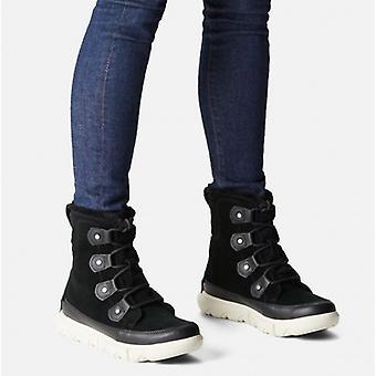 Sorel Explorer Ii Joan Ladies Suede Waterproof Boots Black/fawn