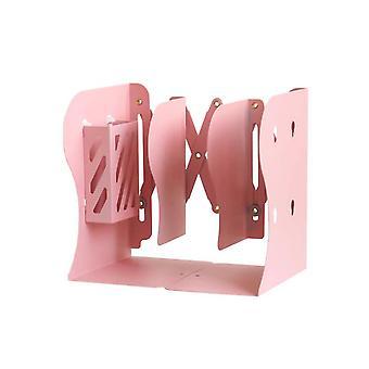 Homemiyn調整可能なブックエンドメタルブックホルダー拡張可能なブックスタンドオーガナイザーブックケース&スタンディングシェルフ