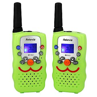 Hywell 2pcs Hand-held Smiley Face Walkie-talkie Mini Civilian Children's Walkie-talkie Pair Set