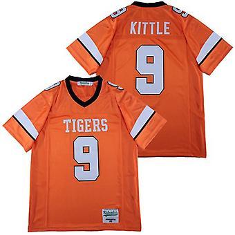 Mens George #9 Kittle High School Football Jersey Outdoor Sportswear, Stitched Movie Football Jerseys Sports Short Sleeve T-shirt Size S-xxxl