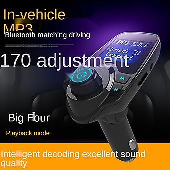 Car Bluetooth Fm Transmitter Mp3 Player Hands-free Phone Smart