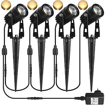 Ensemble de 4,5 W Cob 12 V 24 V Spike Spotlight, Lampe de jardin extérieur Par ;