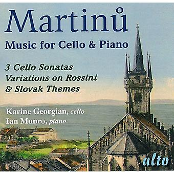 F el. Martin - Martinu: Música para la importación de Estados Unidos para violonchelo y Piano [CD]