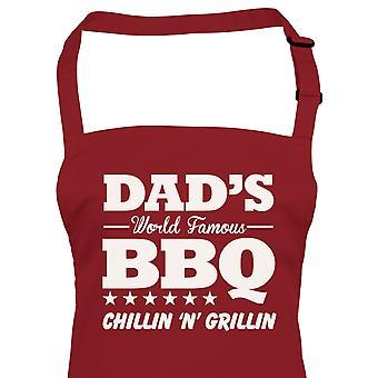 Papas World Famous BBQ Tablier, Anniversaire Pères Jour Barbecue Fumeur