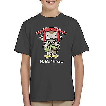 Hello Meow Space Dandy Kitty Kid's T-Shirt