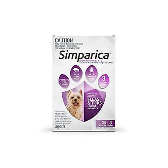 Simparica Xtra Sm 2.6-5kg  Purple 3pk