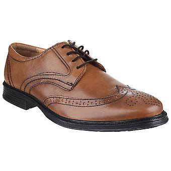 Cotswold Mens Mickleton Lace Up Brogue Shoe Tan