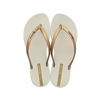 Ipanema Wave Womens Flip Flops / sandaler - Beige och guld