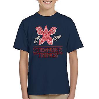 T-Shirt de plus étranges choses Démogorgon enfant