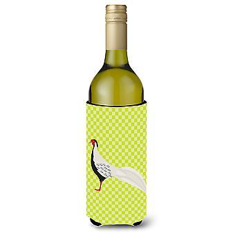 Silver Pheasant Green Wine Bottle Beverge Insulator Hugger