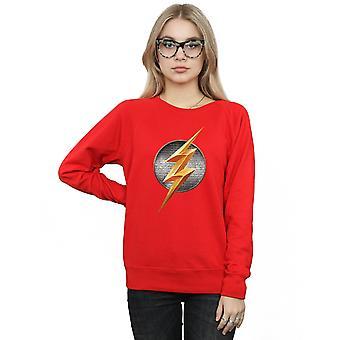 DC Comics Women's Justice League Movie Flash Emblem Sweatshirt