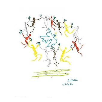 ריקוד הנעורים (S-Litho) הדפס פוסטר על ידי פבלו פיקאסו (18 x 20)