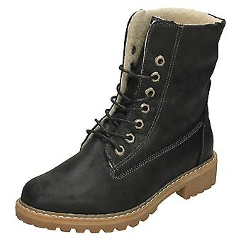 Ladies Down To Earth Fleece Lined Calf Boots F50867