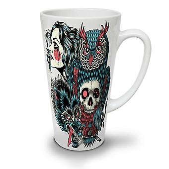 Wolf Dragon Skull Fashion NEW White Tea Coffee Ceramic Latte Mug 12 oz | Wellcoda