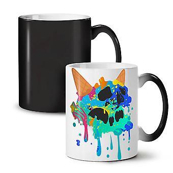 Skull Ice Cream Junk NEW Black Colour Changing Tea Coffee Ceramic Mug 11 oz | Wellcoda