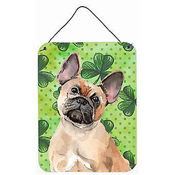 Fawn französische Bulldogge St. Patricks Wand oder Tür hängen Drucke