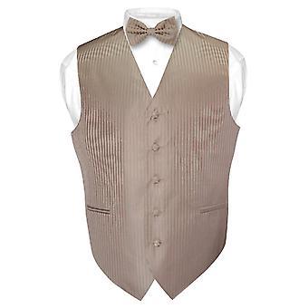 紳士服ベスト ・ ボウタイ縦ストライプ デザイン蝶ネクタイを設定