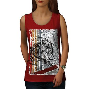 Horse Head Beast Women RedTank Top | Wellcoda