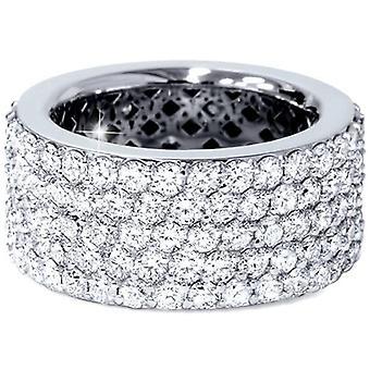 5 ct Pave Diamond Eternity Ring 14k White Gold