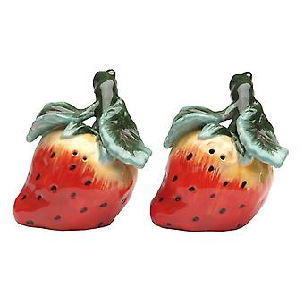 Aardbei Patch Red Berry Salt and Pepper Shakers