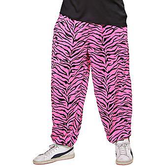 80s Baggy Pants - (Pink Zebra)
