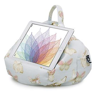 Ipad, tablet & ereader bean bag stand by ibeani - butterfly blue