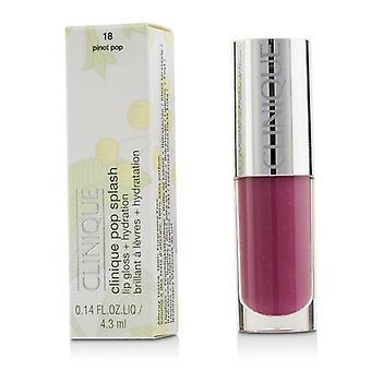 Clinique Pop Splash Lip Gloss + Hydration - # 18 Pinot Pop - 4.3ml/0.14oz