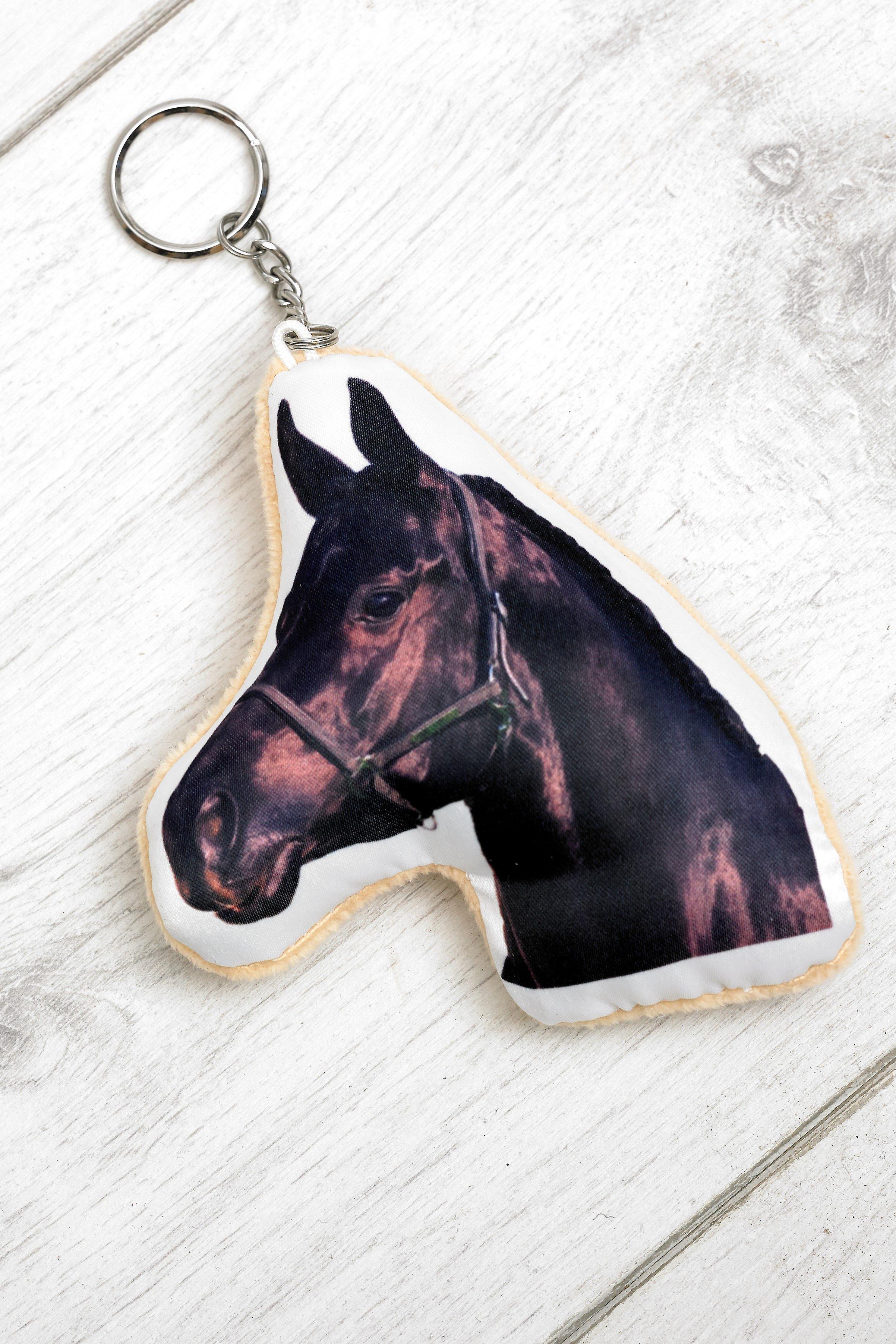 Adorable black horse keyring