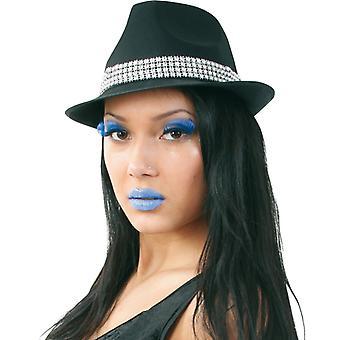 Kapelusz rhinestone błyszczący kapelusz Herrnhut Las Vegas