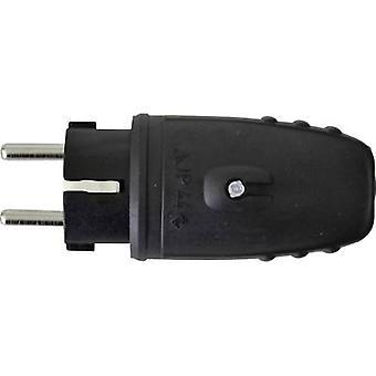 N & L 627631 Sikkerhedsstik Gummi 230 V Sort IP44