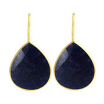 Gemshine Women's Earrings 925 Silver Plated Onyx Blue CANDY Drops