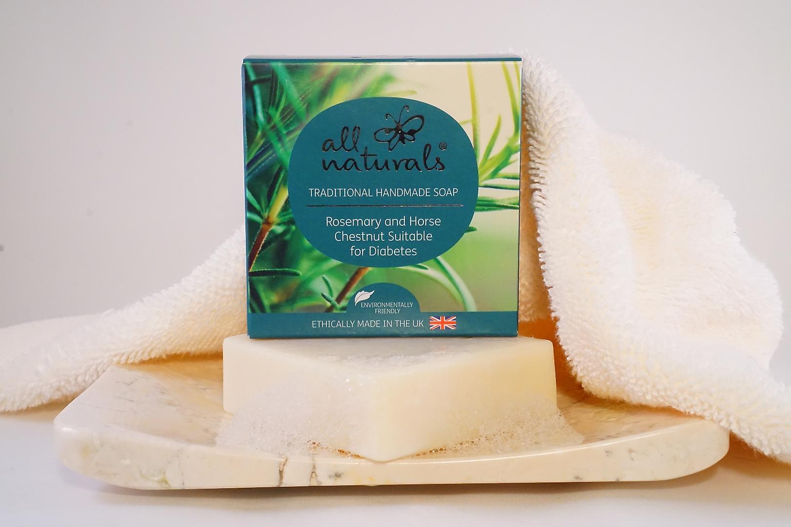 Alle Naturals organische diabetische zeep rozemarijn en paardekastanje 100g