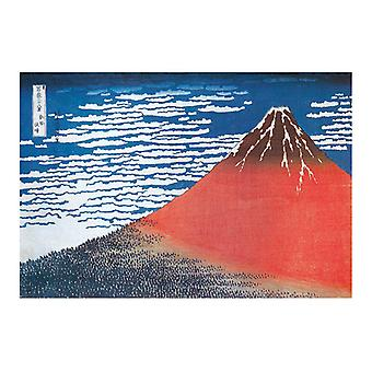 Hokusai prints of Mount Fuji miniature
