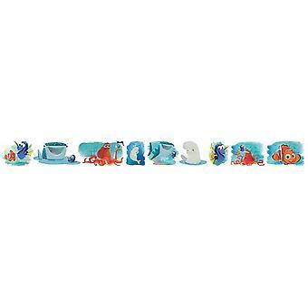 Dory and Nemo adhesive border white bedroom set