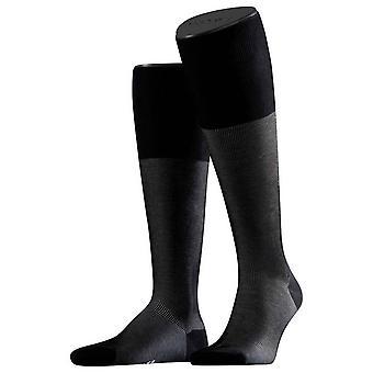 Falke-bildenden Schatten Socken Kniestrümpfe - schwarz/grau