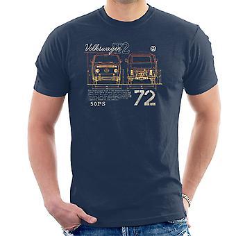 Volkswagen T2 Mini Van 72 Men's T-Shirt