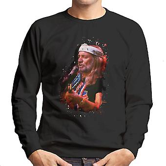 TV tider Willie Nelson Live Paint Splatter Mäns tröja